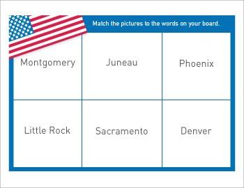 State Capital Bingo | USA