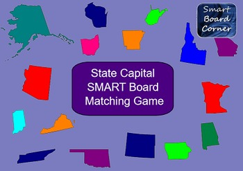 State Capital SMART Board Matching Game