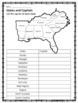 United States Capitals Task Cards and Map Activities