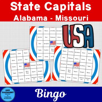 State Capitals Bingo Game 1 (Alabama - Missouri)