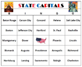 State Capitals Bingo Teaching Game Printable