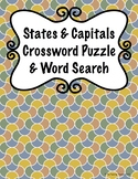 State & Capitals Crossword Puzzle and Word Search