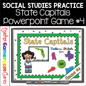 State Capitals Digital Powerpoint Game #4