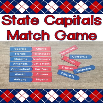 State Capitals Match Game