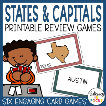 State Capitals Task Cards- Match each state with its capital!