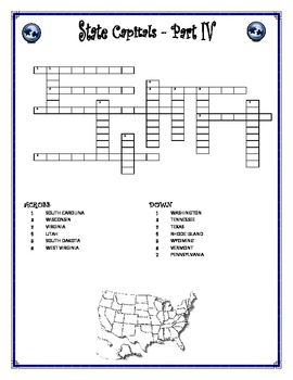 State Capitals Word-cross Part 4