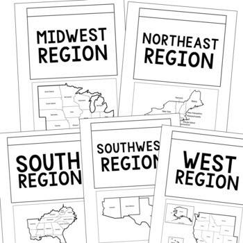 USA State Capitals and Abbreviations Interactive Notebook, Geography Unit