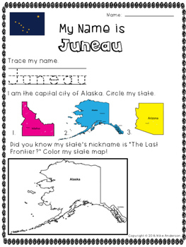 State Capitals of the USA Activity (50 Pages)