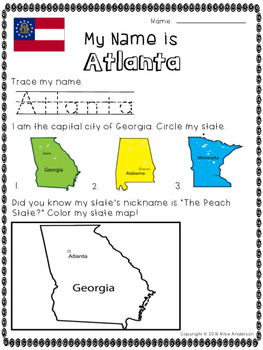 State Capitals of the USA FREEBIE (3 States)