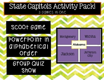 State Capitol Activity Pack
