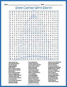 graphic about Printable List of State Capitals Only referred to as US Nation Capitals Phrase Appear