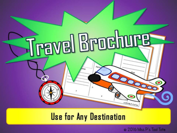 City, State, Country Travel Brochure