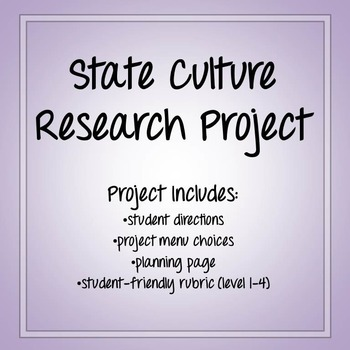 State Culture Research Project