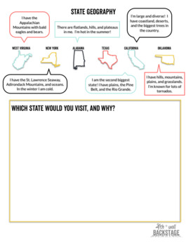 State Fact Worksheets
