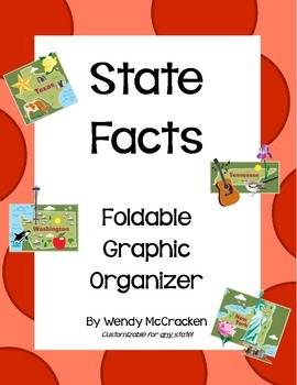 State Facts Foldable Graphic Organizer