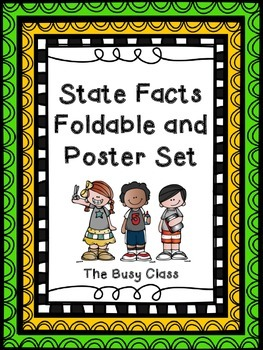 State Facts Foldable and Poster Set
