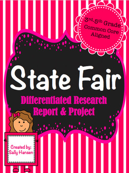 State Research Project 3-5 CCSS Aligned with Differentiated Options