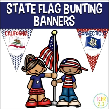 United States Flag Bunting Banners