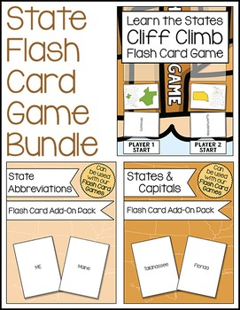 State Flash Card Game Bundle