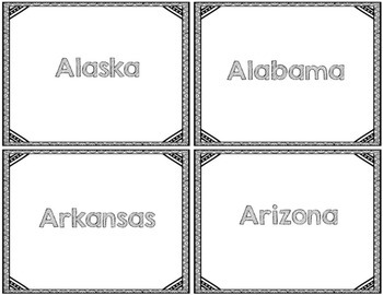 State Flash Cards
