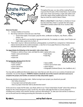 State Float Project Student Guidelines Letter & Rubric
