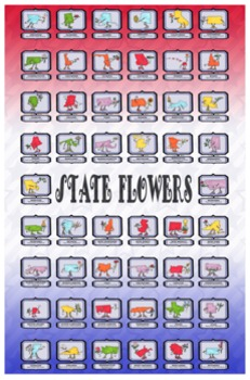 State Flowers Clip Art