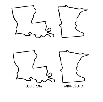 State Fonts - Outline maps of states