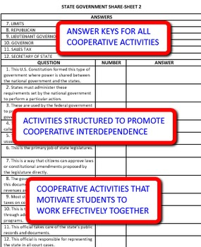 State Government: Study Guide and Activity Pack
