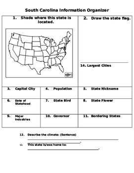 State Map Graphic Organizer
