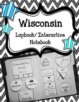 Wisconsin State Lapbook/Interactive Notebook.  US State History.  Geography