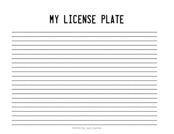 State License Plate Templet (editable)