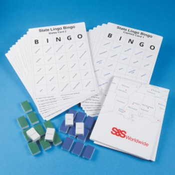 State Lingo Bingo Activity Set for teaching states and capitals through movement