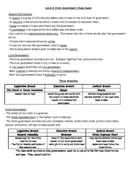 State & Local Government Test & Study Guide