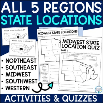 State Locations-- All 5 Regions