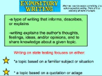 Expository/Explanatory Writing: State-Test-Mandated Writing