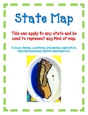 State Map Art Activity Hands-On to Represent Biomes, Landforms, Population, etc.
