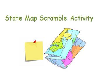 State Map Scramble Activity