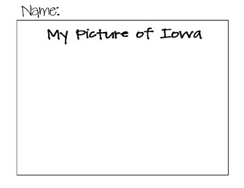 State Name Puzzle- Iowa