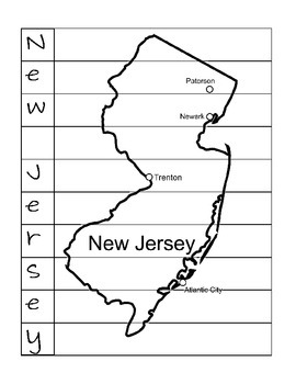 State Name Puzzle- New Jersey