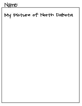 State Name Puzzle- North Dakota