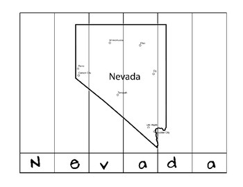 State Name Puzzles- Nevada