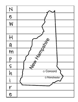 State Name Puzzles- New Hampshire