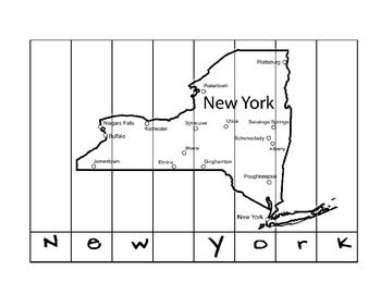 State Name Spelling Puzzle- New York