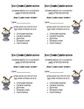 FREE SBAC, PARCC Ice Cream Party Activity