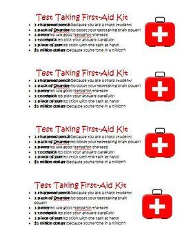 FREE SBAC PARCC Standardized Test Survival Kit Activity