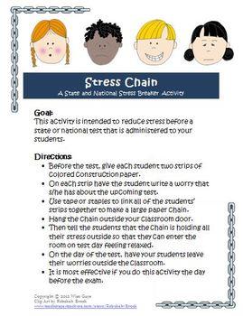 SBAC PARCC Standardized Test Stress Breaker Activity