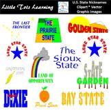U.S. State Nicknames Clip Art
