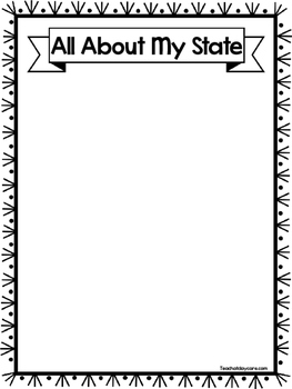State Notebooking Worksheets. Homeschool, Kindergarten-8th Grade.