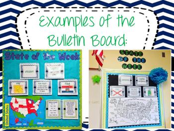 State Of The Week Bulletin Board Set