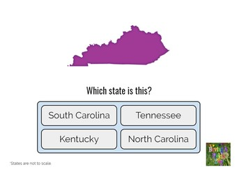 State Outline Quiz- Boom Cards